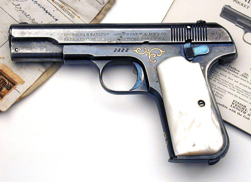 Colt 1903 Pocket Hammerless  32 ACP Factory Engraved