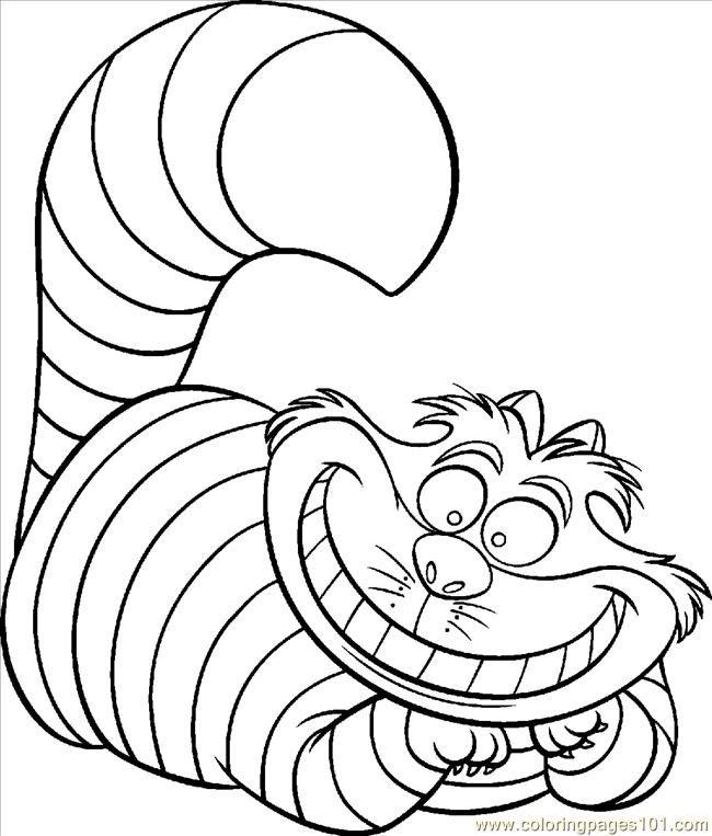 Cheshire Cat Coloring Pages 3 Jpg 500 645 Colorear Princesas Dibujos Cosas Para Pintar