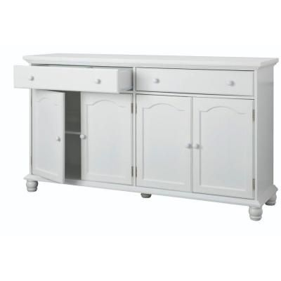 Great Home Decorators Collection Harwick 2 Drawer Antique White Buffet 5442100410    The Home Depot Design Inspirations