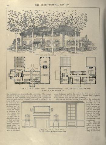 Architectural Review Free Download Borrow And Streaming With Images House Plans With Pictures Vintage House Plans Colonial House Plans