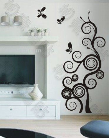 FREE SHIPPING Big Large Unique Butterfly Circles Tree PVC Wall Sticker Decor  Decals On AliExpress.