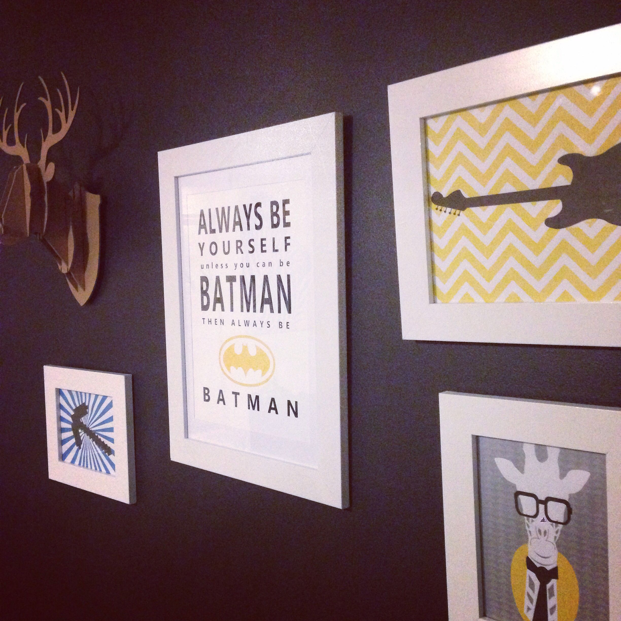 Feature wall number one, easy print design, cheap and simple white ...