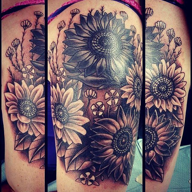 6a4467672 Sunflower tattoo half sleeve | my addictions | Tattoos, Sleeve ...