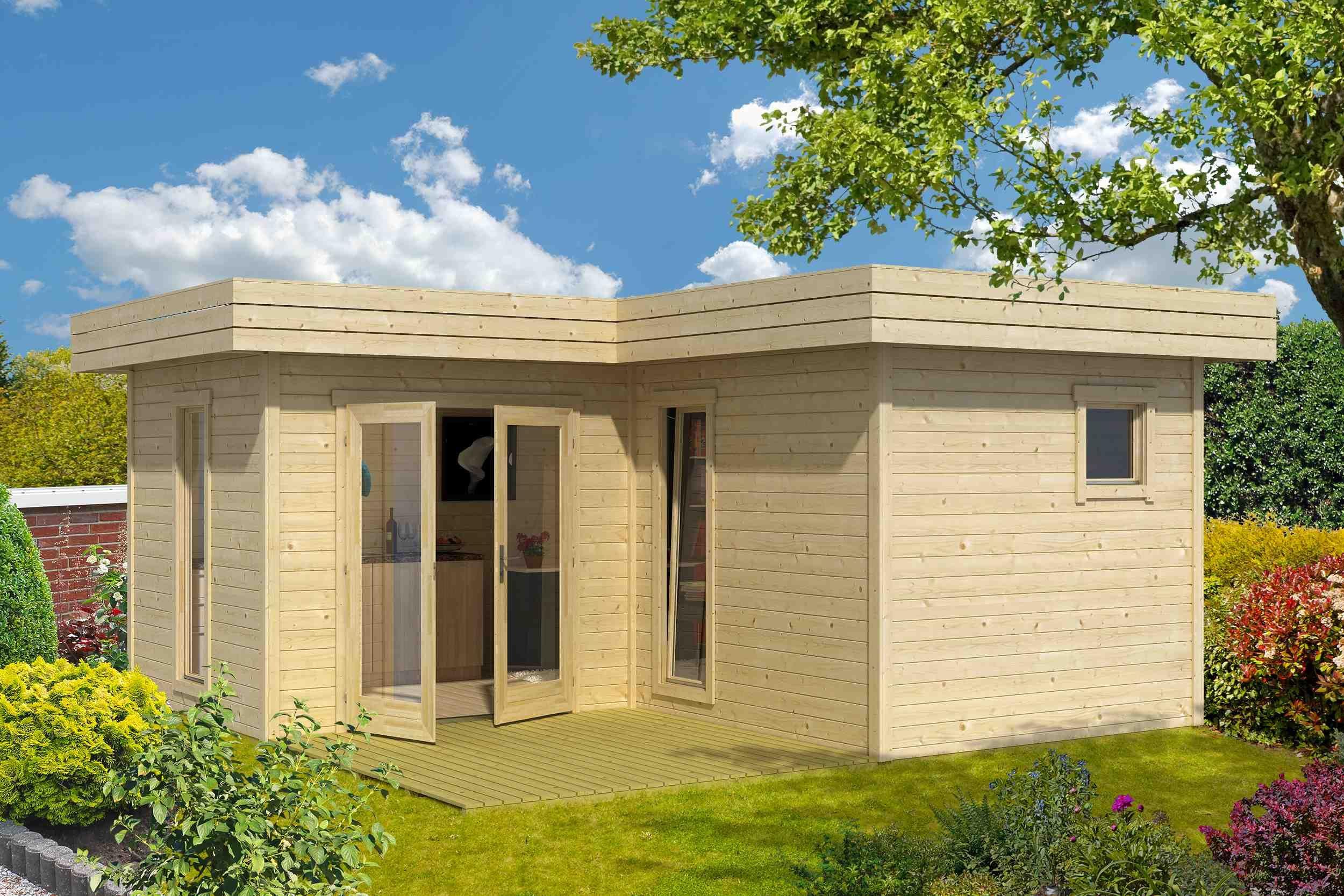Modernes Gartenhaus mit dem flachdach gartenhaus fiji lasita maja erhalten sie ein