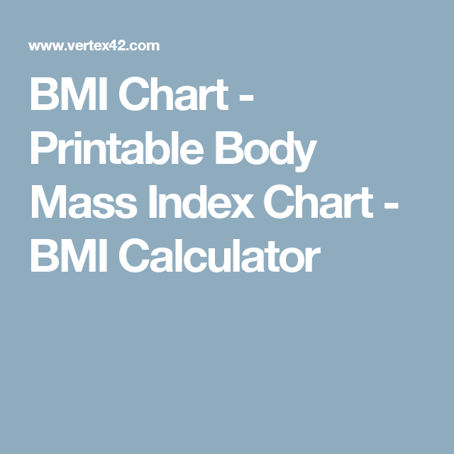 graphic about Printable Bmi Chart named BMI Chart - Printable System M Index Chart - BMI Calculator