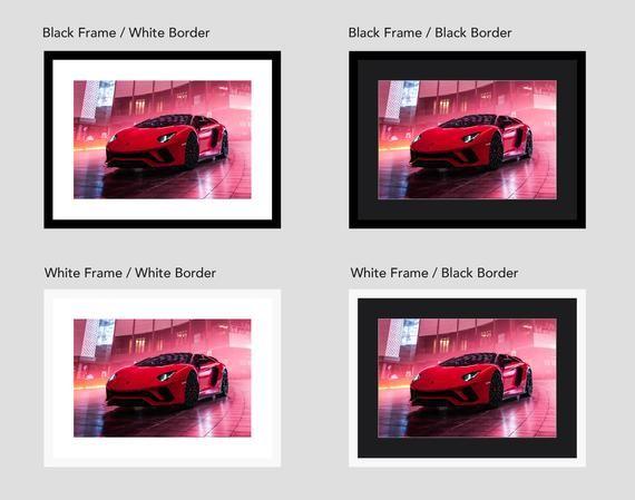 Lamborghini Aventador S Roadster, Picture Wall Art Framed #lamborghiniaventador