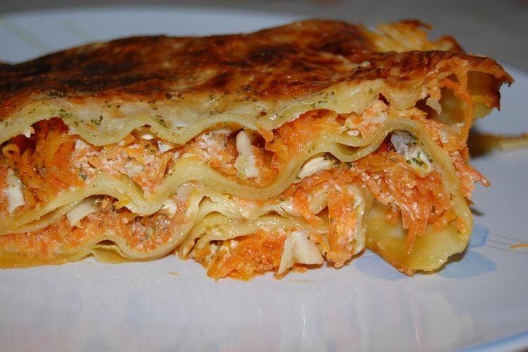 Recette de Lasagnes aux carottes et chèvre : la recette facile