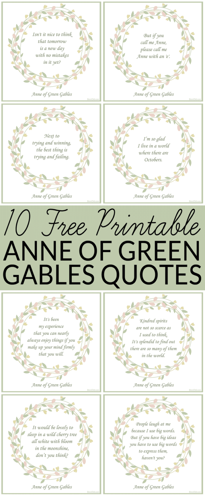 10 Anne Of Green Gables Quotes Green Gables Free