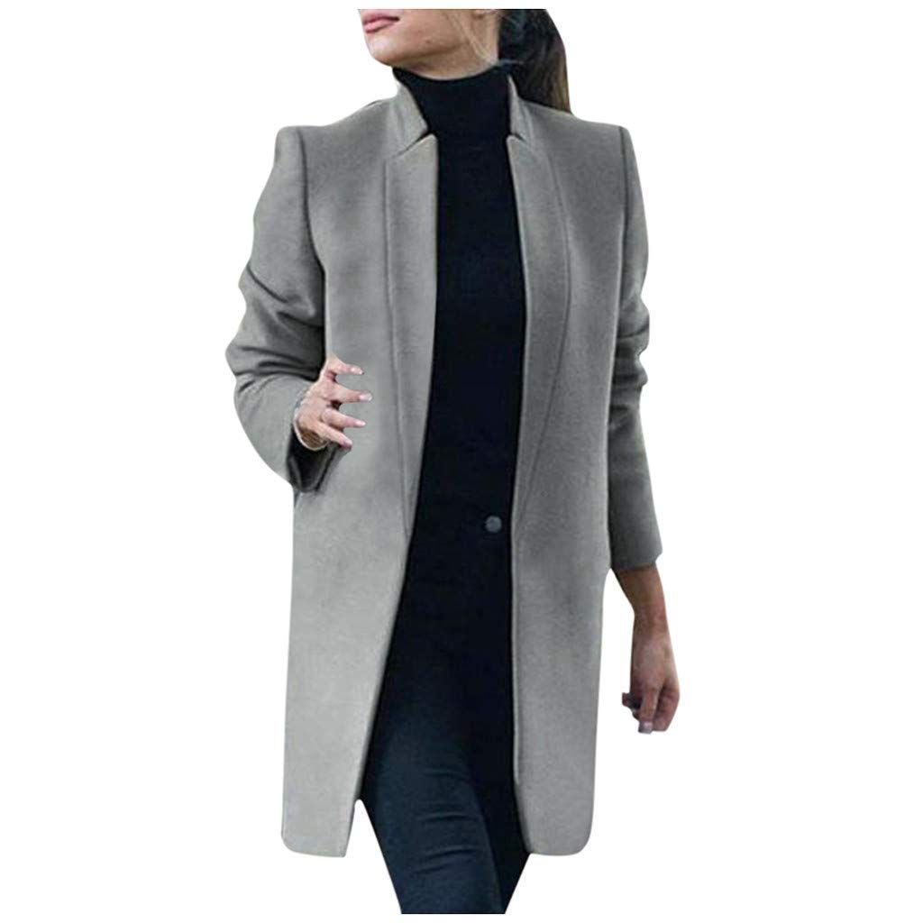 Sallymonday Women S Artificial Wool Trench Coat Winter Zipper Open Front Outwear Winter Elegant Trench Jacket Women Overcoat Coats For Women Jackets For Women