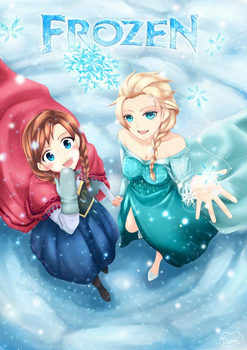 Frozen Elsa & Anna Disney Illustration Pinterest