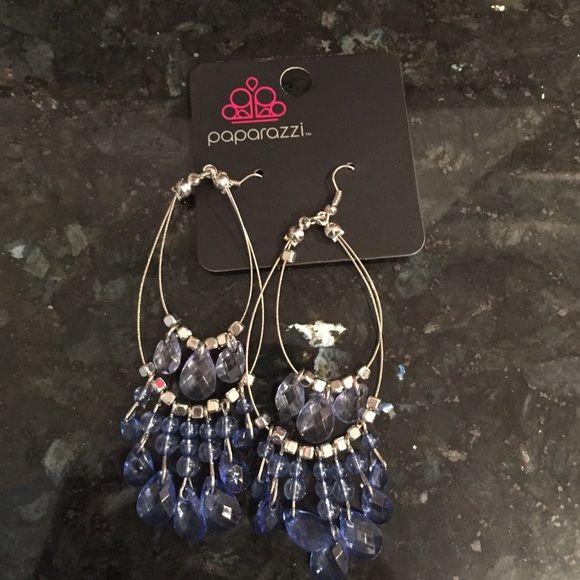 Paparazzi earrings Blue paparazzi Earrings, brand new Jewelry Earrings