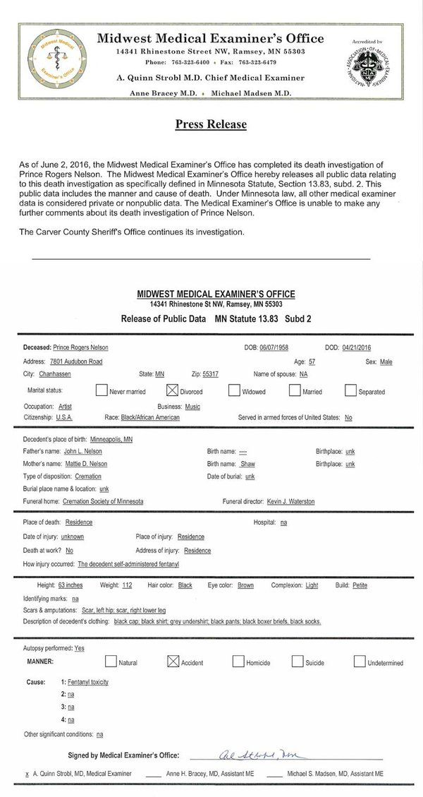 Midwest Medical Exam on Prince paisley park and Paisley park - autopsy assistant sample resume
