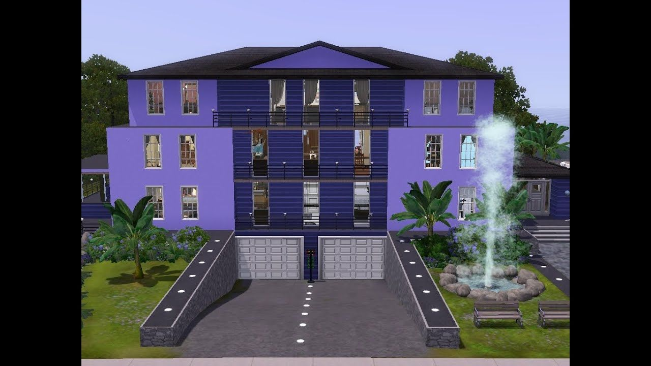 Sims 3 Haus Bauen Lets Build Appartementhaus Mit Tiefgarage Youtube House Styles Mansions House