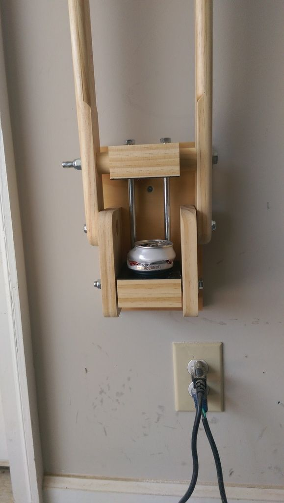 Wooden Soda Can Crusher