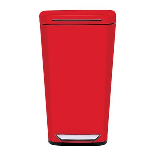 Oxo Good Grips Red Steel Rectangular Trash Can 10 Gallon