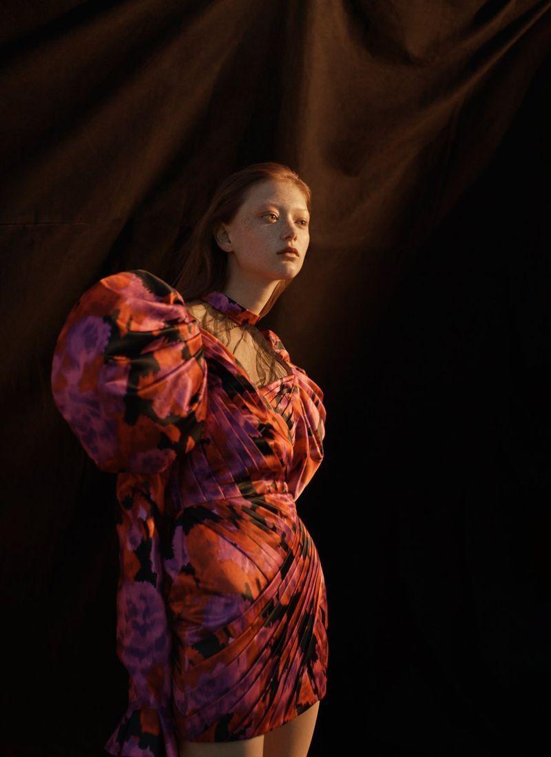 Sara Grace Wallerstedt Models Statement Looks for Vogue Russia -  Sara Grace Wallerstedt appears on