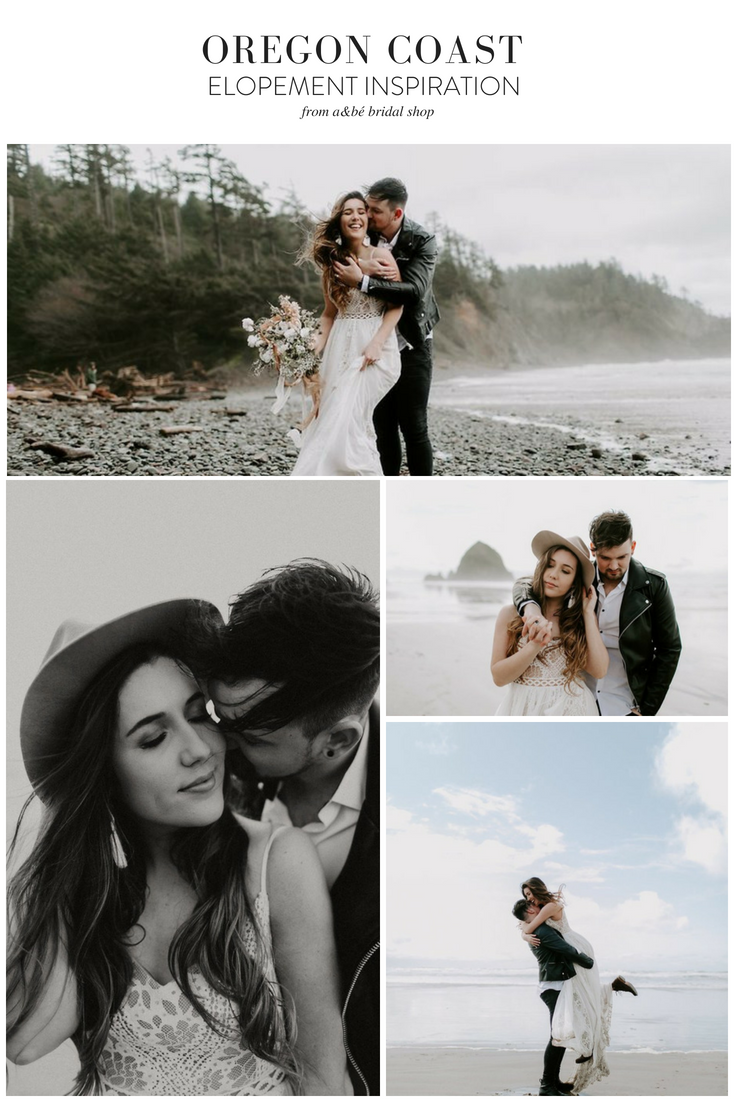 Wedding beach dress  Oregon Coast Bohemian Elopement Inspiration  Wedding dress bohemian