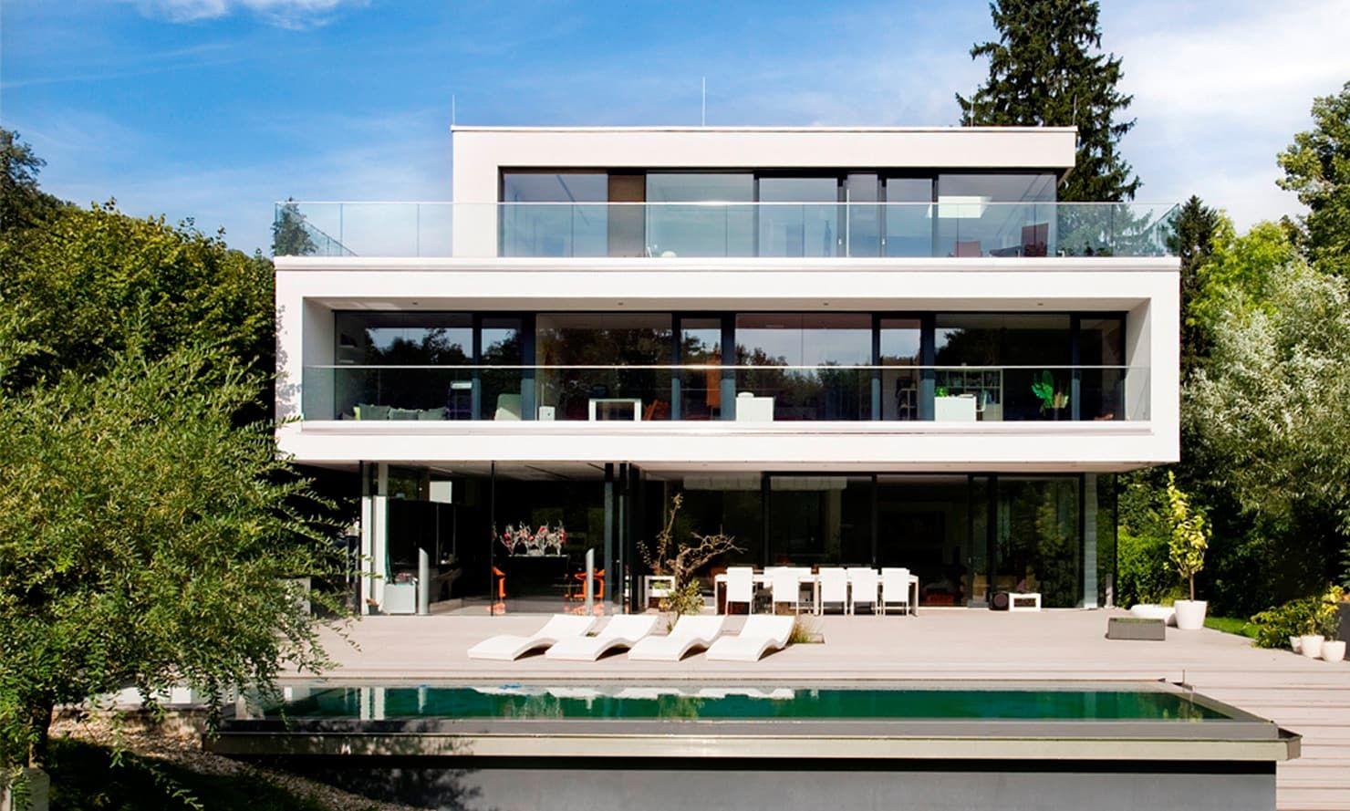 Einfamilienhaus in hinterbrühl bei wien moderner balkon