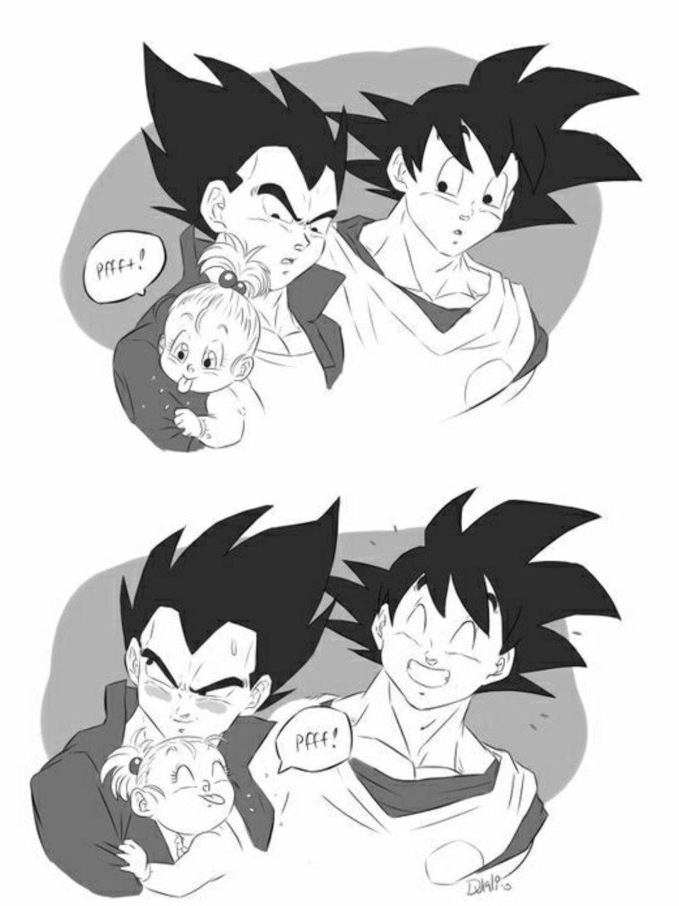 Vegeta Goku And Bulla Anime Dragon Ball Super Dragon Ball Artwork Dragon Ball Super Manga