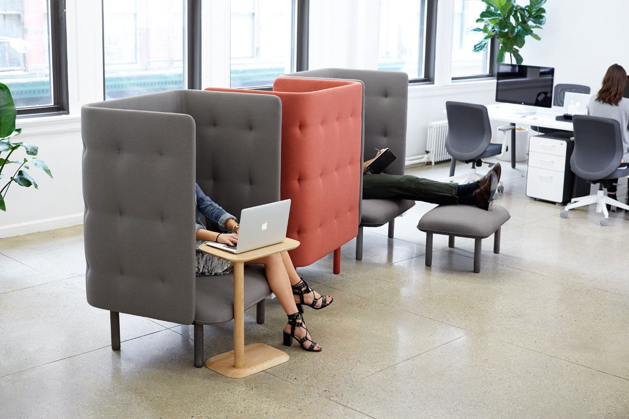 Qt Privacy Lounge Chair From Poppin Creative Workspaces