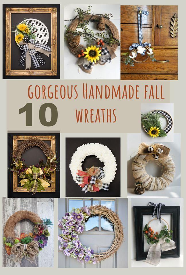 Photo of 10 Gorgeous Handmade Fall Wreaths Easy Diy fall wreath idea for any style. Step …