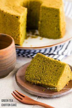 Green Tea Chiffon Cake Recipe Chiffon Cake Dessert Cake