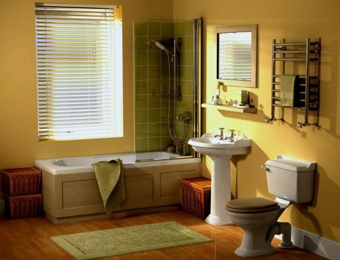 Grünes Badezimmer ~ Wandfarben trendfarben badezimmer gelbe wandfarbe grüne