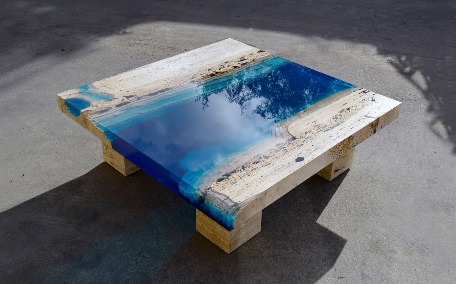 "Breathtaking new ""Lagoon"" tables capture the beauty of the"
