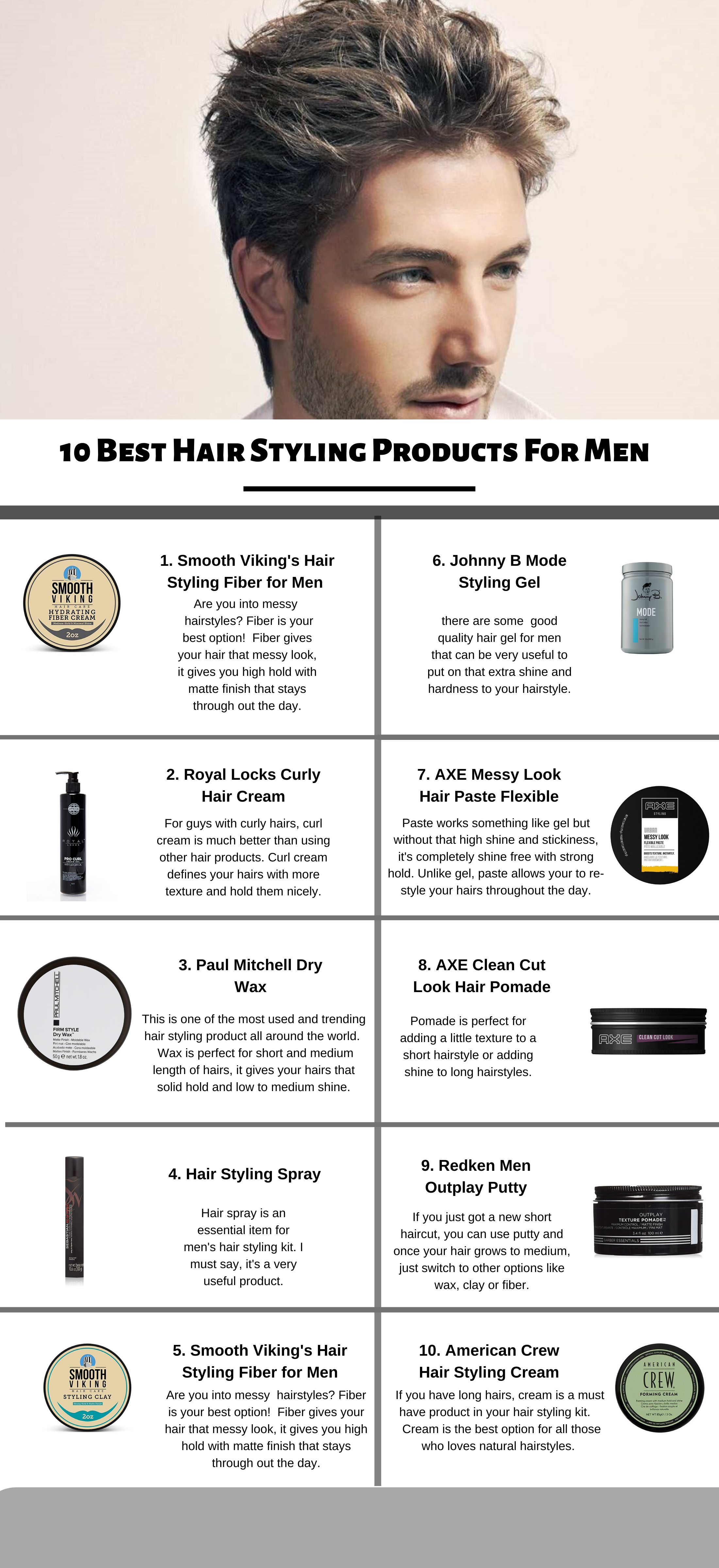 10 Best Hair Styling Products For Every Length Of Hair And Style Cool Hairstyles Hair Wax For Men Long Hair Styles Men