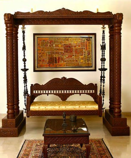 Outstanding swing and decor around it india decor for Living room jhoola