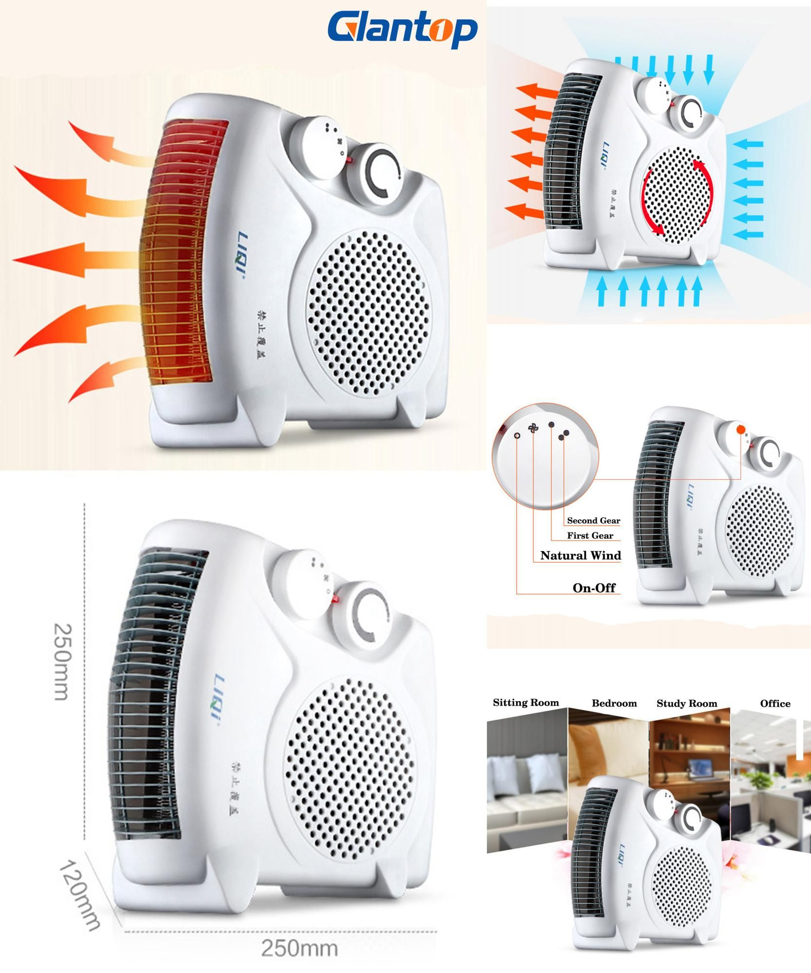 [Visit to Buy] Glantop 220V Electric Air Heater Warm Air