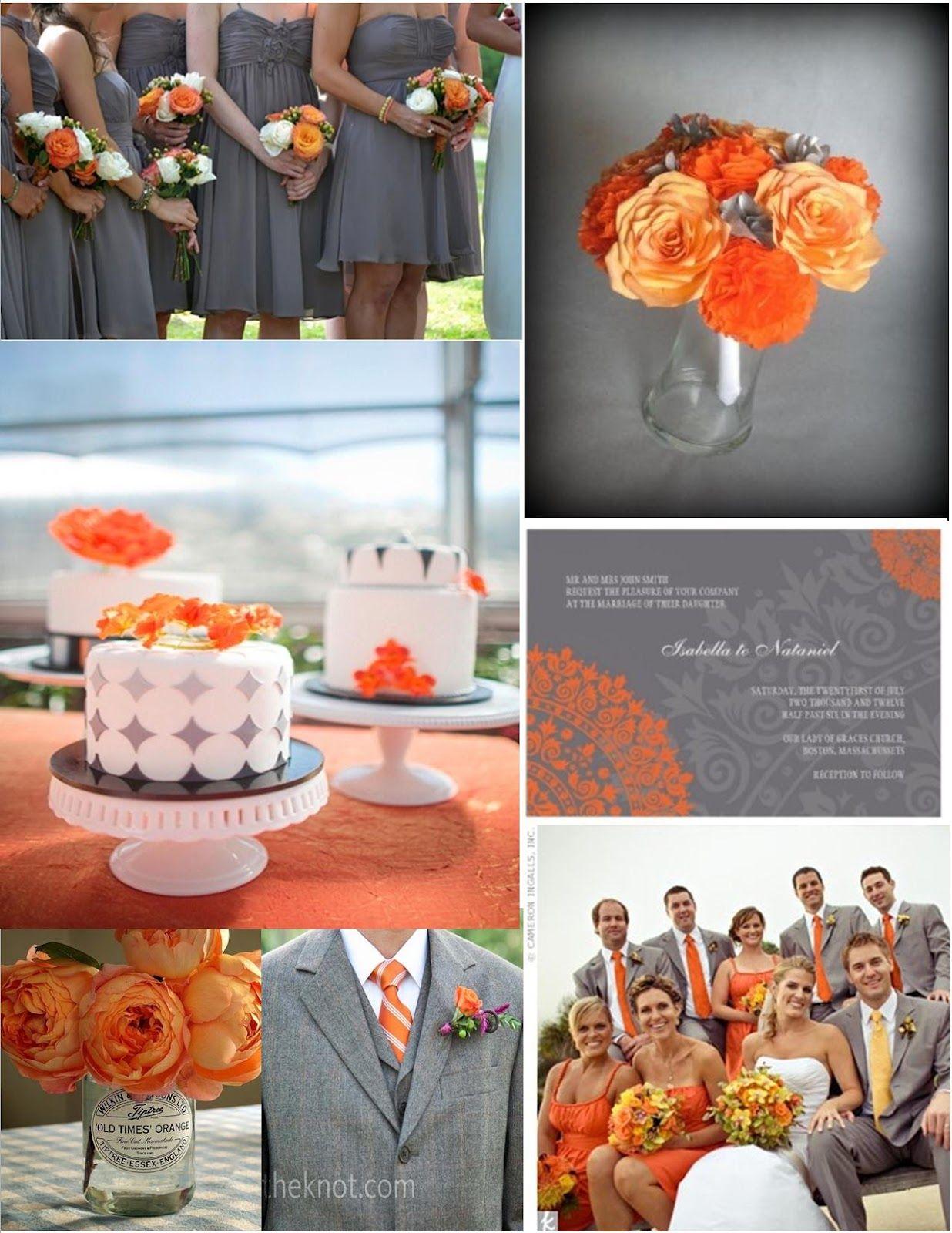 Inspiration Orange And Grey Orange Wedding Decorations Orange