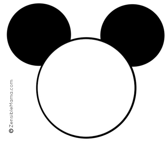 Mickey Mouse Head Template Printable Google Search Disney