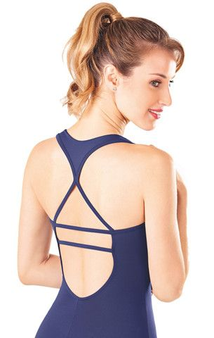 E1525 Racer Back Tank Leotard - Canadian Apparel