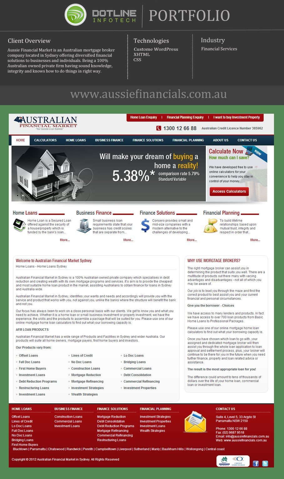 Aussie Financial Market Specializes In Debt Reduction And Creating Wealth With Its Own Mortgage Website Design Company Finance Loans Digital Marketing Company