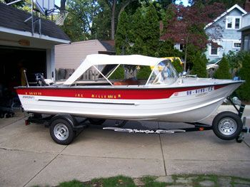 1965 16' Starcraft Jupiter Restored Red | starcraft boats