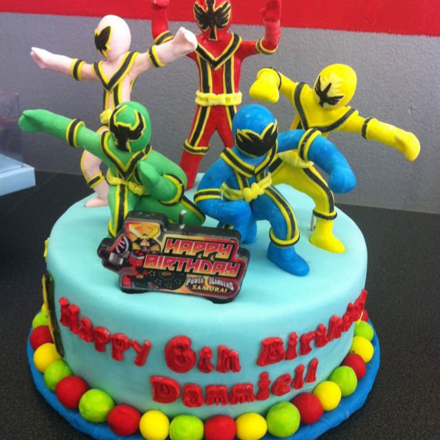 Power Rangers Designed Birthday Cake Power Ranger Birthday