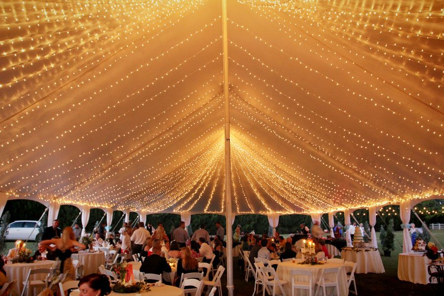 Outdoor wedding lighting reception tent lighting ideas. Wedding string lights for tents. How : string lights for wedding tent - memphite.com