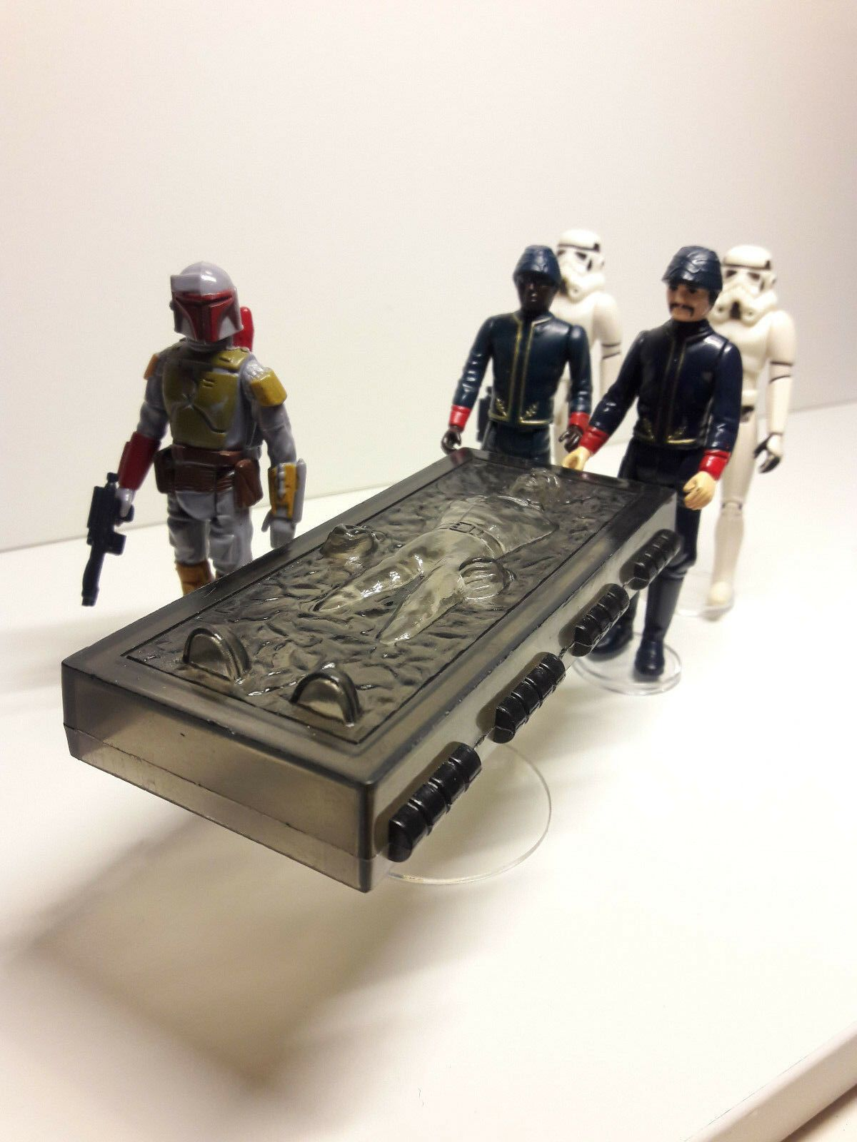 Horizontal Han Carbonite Display Stand Stand Only Star Wars Kenner Potf Ebay Star Wars Toys Action Figures Vintage Star Wars Toys Star Wars Toys