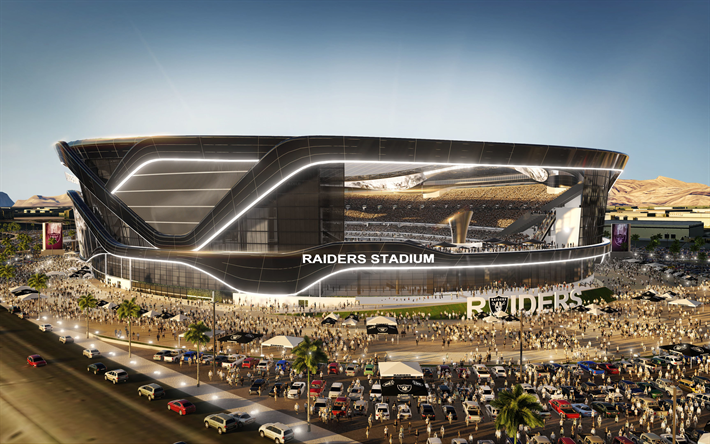 Download Wallpapers Las Vegas Stadium 3d Project 2020 Las Vegas Raiders National Football League Nfl Paradise Nevada Usa Besthqwallpapers Com Stadium Architecture Stadium Design Moving To Las Vegas