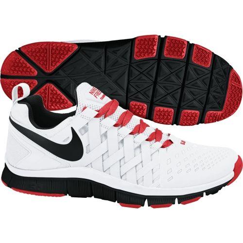 buy online ed9b0 fdf2e Nike Mens Free TR 5.0 Training Shoes White Crimson Black ...