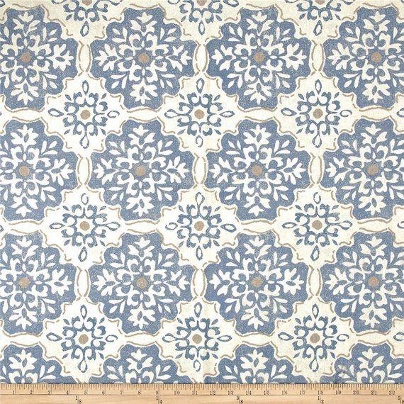 Curtains Blue, Pair Of Rod Pocket Panels, Magnolia Home