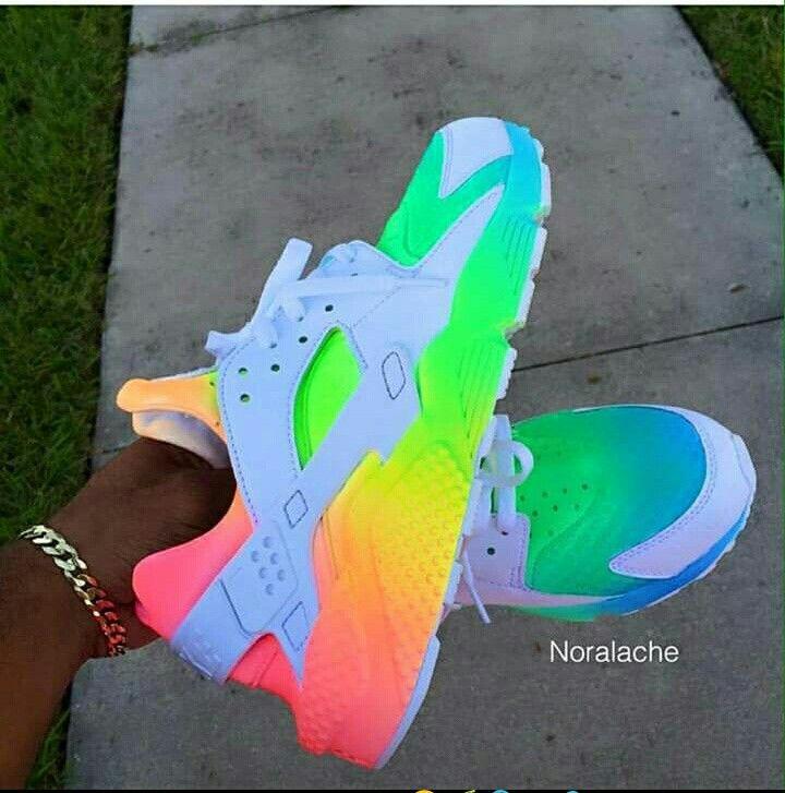 Huarache Multi color | Nike shoes, Nike
