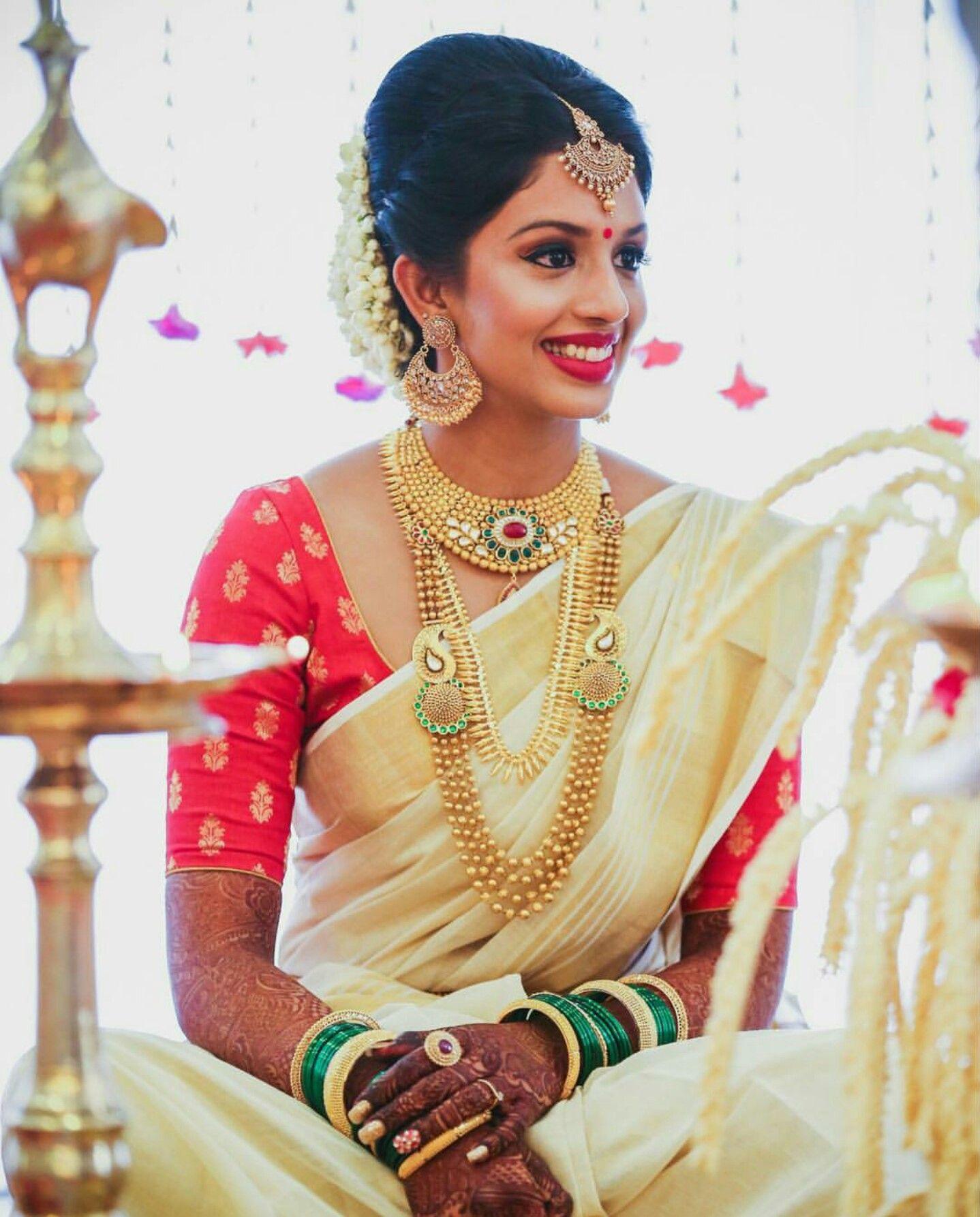 Wedding Sarees For Bride Kerala Hindu: Kerala Wedding Saree, Indian