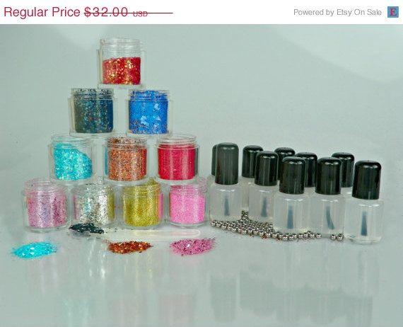 nail polish Lacquer Base Franken nail polish glitter nail polish franken polish starter kit kit nail polish base gl. $32.00, via Etsy.