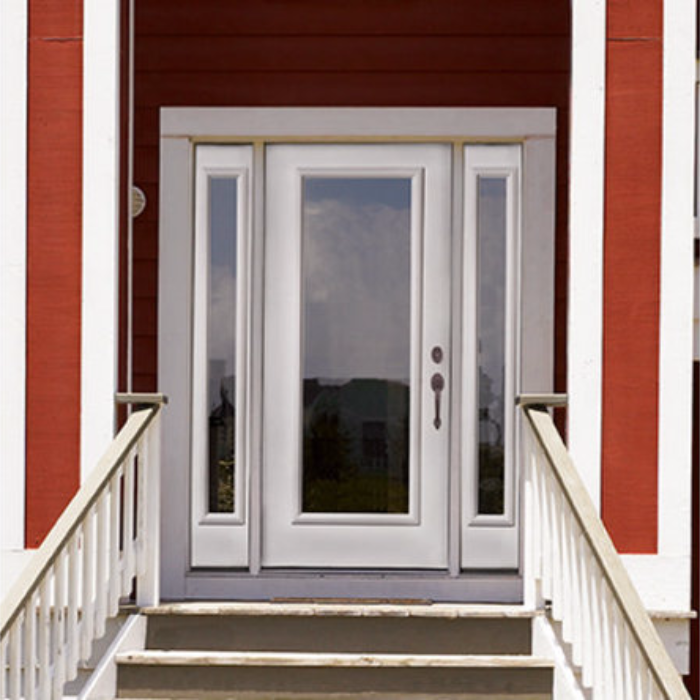 The Therma Tru Smooth Star Full Lite Flush Door Is A Great Choice For Anyone Who S Looking An Open Style That Lets In Lots Natural Light