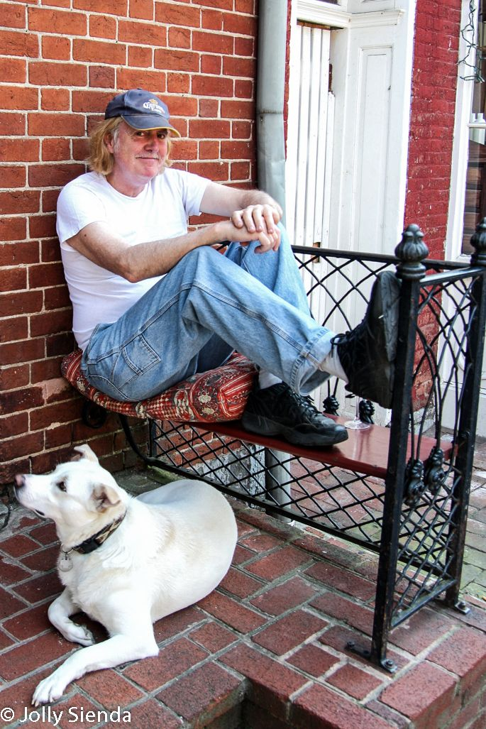 A Shepherdstown, WV., man with his dog. Photo by Jolly Sienda