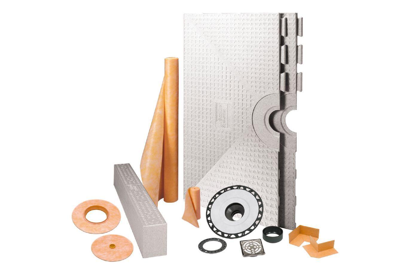 Kerdi Shower Kit Pvc Shower Shower Kits 48 Inch Shower