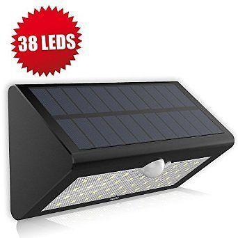 Solar Motion Sensor Light, Fugetek FT-38L Super Bright 38 LED, Genuine LG Rechargeable Batteries, Solar Powered… #coupons #discounts