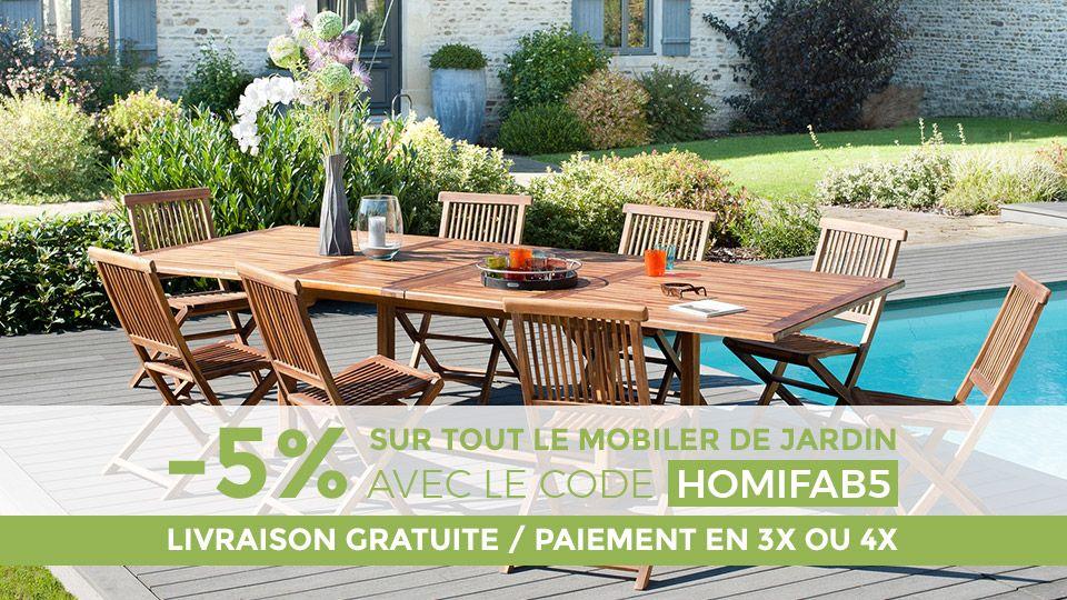 5% de remise sur le mobilier de jardin ! #promo #reduction #deco ...